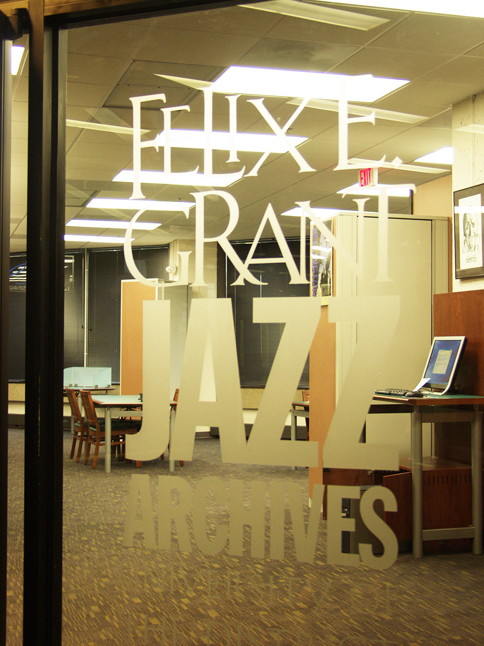 Entrance to Jazz Archives